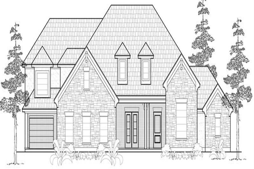 5-Bedroom, 3626 Sq Ft Country House Plan - 134-1196 - Front Exterior