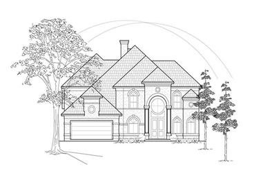 4-Bedroom, 4145 Sq Ft Luxury Home Plan - 134-1197 - Main Exterior