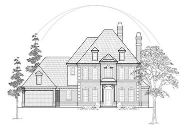 4-Bedroom, 3997 Sq Ft Luxury House Plan - 134-1198 - Front Exterior