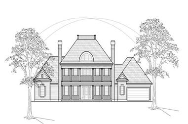 5-Bedroom, 4156 Sq Ft Colonial Home Plan - 134-1199 - Main Exterior