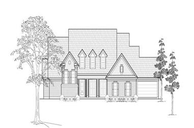 4-Bedroom, 4156 Sq Ft Farmhouse Home Plan - 134-1200 - Main Exterior