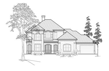 5-Bedroom, 4181 Sq Ft Mediterranean House Plan - 134-1203 - Front Exterior