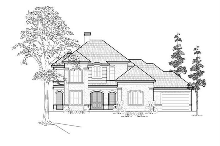 5-Bedroom, 4181 Sq Ft Mediterranean House Plan - 134-1203 - Front Exterior