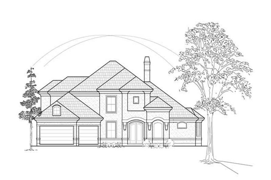Main image for house plan # 8635