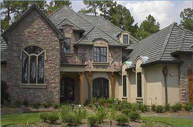 4-Bedroom, 4083 Sq Ft European House Plan - 134-1205 - Front Exterior