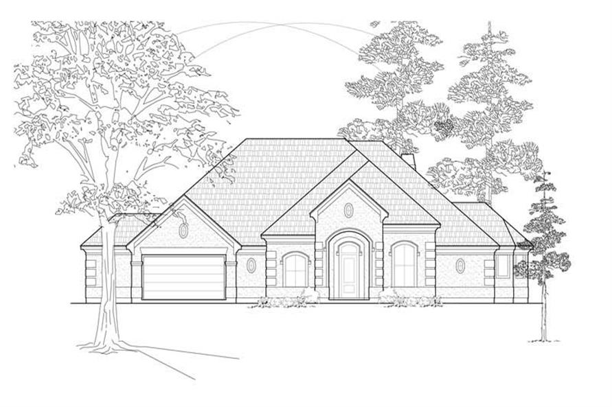 3-Bedroom, 3142 Sq Ft Ranch House Plan - 134-1206 - Front Exterior