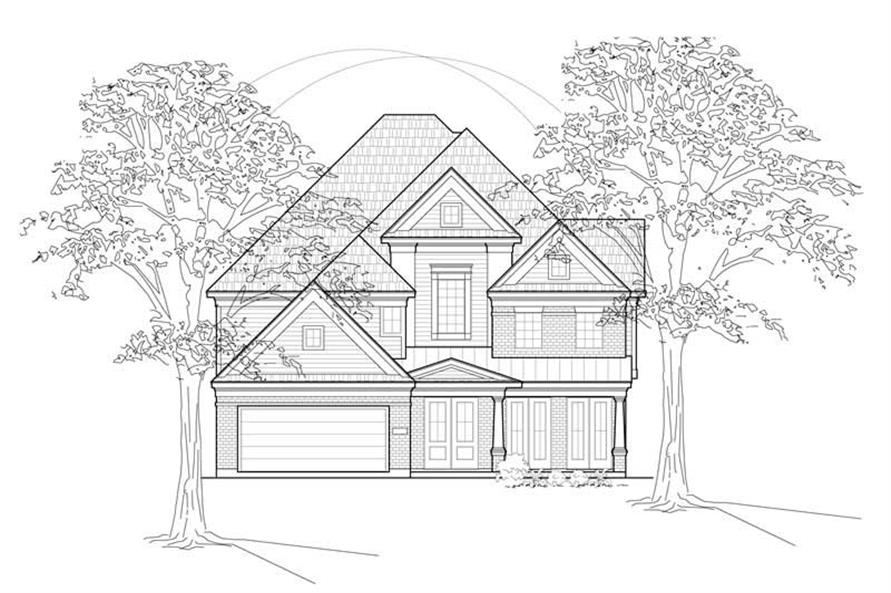 Home Plan Rendering of this 3-Bedroom,3249 Sq Ft Plan -134-1207