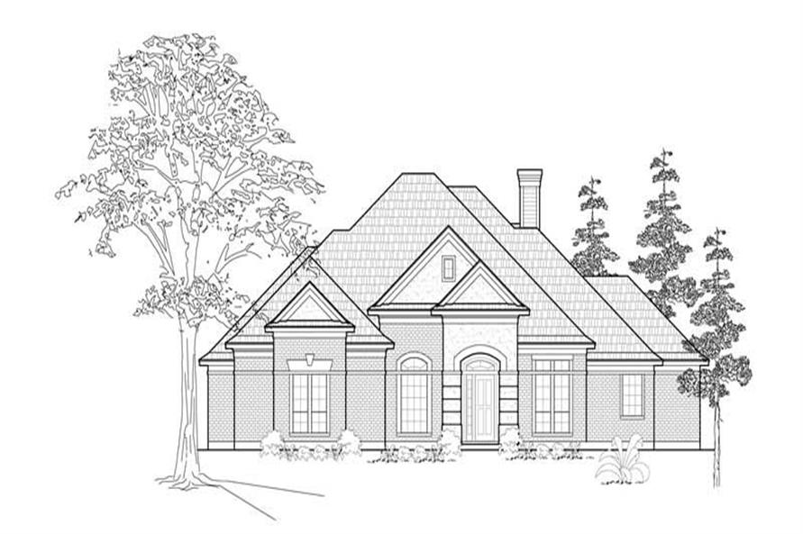 MAIN ELEVATION of this 4-Bedroom,3115 Sq Ft Plan -3115