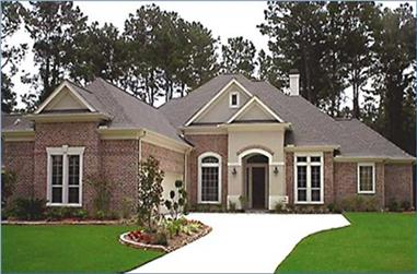 4-Bedroom, 3115 Sq Ft Ranch House Plan - 134-1214 - Front Exterior