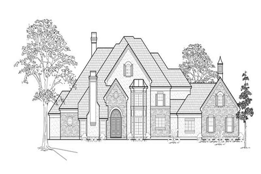 3-Bedroom, 5053 Sq Ft European Home Plan - 134-1217 - Main Exterior
