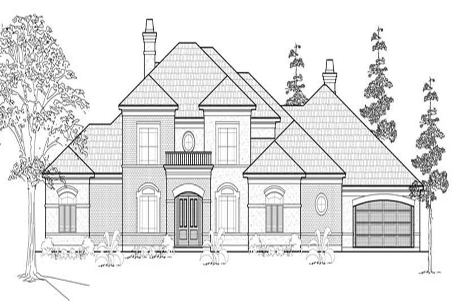 134-1219: Home Plan Front Elevation