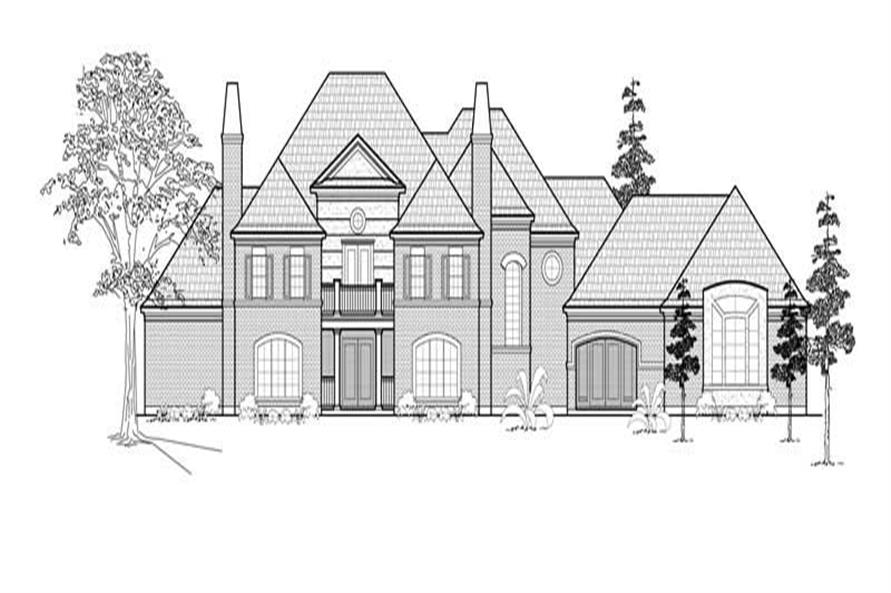 4-Bedroom, 5379 Sq Ft Luxury Home Plan - 134-1220 - Main Exterior