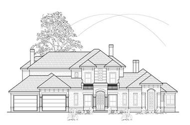 4-Bedroom, 5386 Sq Ft Luxury Home Plan - 134-1221 - Main Exterior
