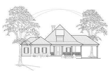 3-Bedroom, 2638 Sq Ft Country House Plan - 134-1224 - Front Exterior