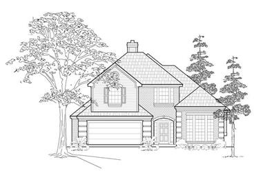 3-Bedroom, 2479 Sq Ft Traditional House Plan - 134-1229 - Front Exterior