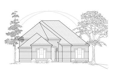 3-Bedroom, 2484 Sq Ft European House Plan - 134-1230 - Front Exterior