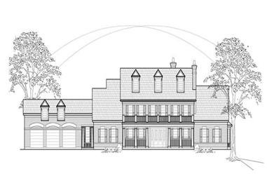4-Bedroom, 5896 Sq Ft Colonial House Plan - 134-1233 - Front Exterior