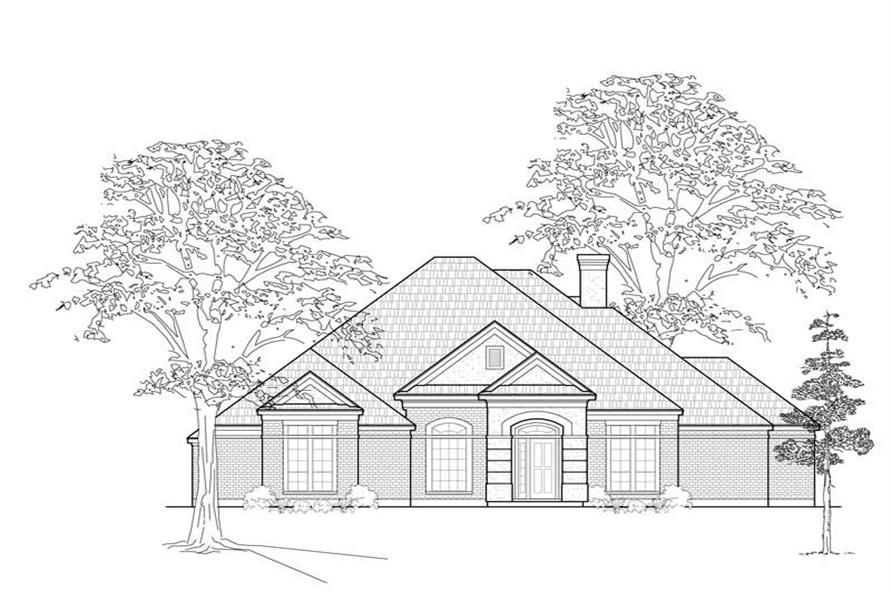 3-Bedroom, 2701 Sq Ft Contemporary House Plan - 134-1234 - Front Exterior