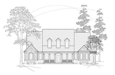 3-Bedroom, 2712 Sq Ft Country House Plan - 134-1235 - Front Exterior