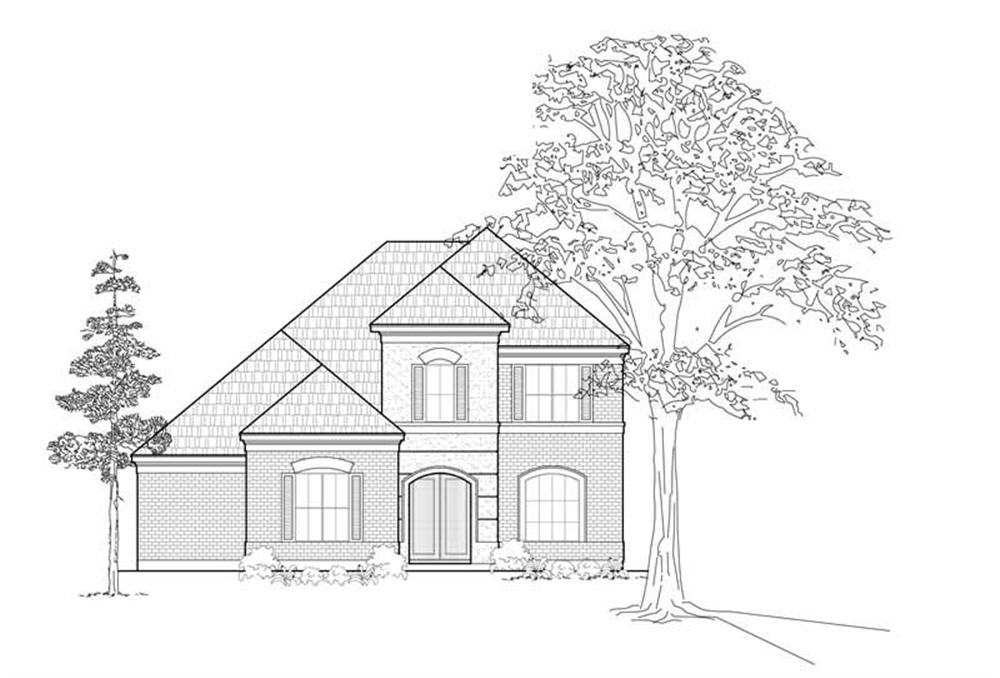 Luxury home (ThePlanCollection: Plan #134-1237)