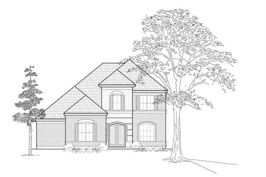 3-Bedroom, 2753 Sq Ft House Plan - 134-1237 - Front Exterior