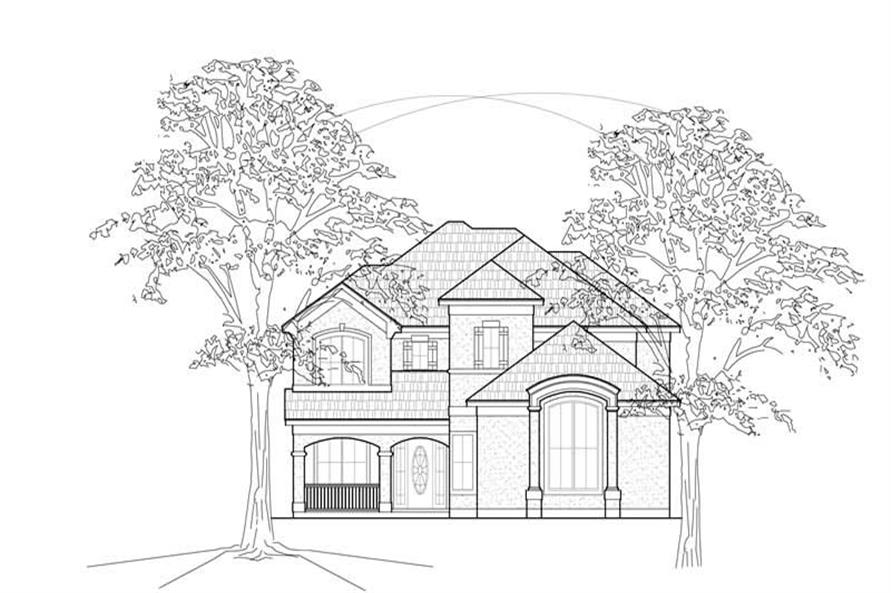3-Bedroom, 2756 Sq Ft Traditional House Plan - 134-1238 - Front Exterior