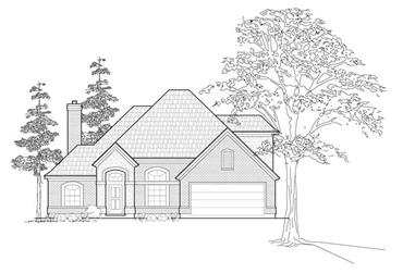 3-Bedroom, 2834 Sq Ft Traditional House Plan - 134-1240 - Front Exterior