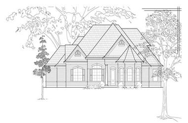 4-Bedroom, 3410 Sq Ft Luxury House Plan - 134-1242 - Front Exterior