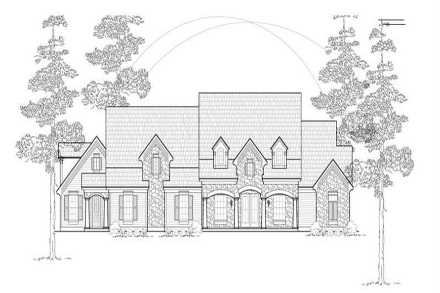 MAIN ELEVATION of this 3-Bedroom,3253 Sq Ft Plan -3253