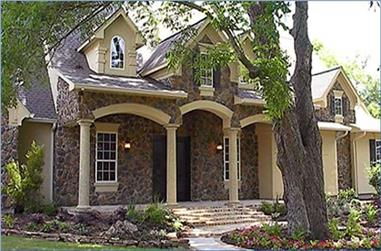 3-Bedroom, 3253 Sq Ft European House Plan - 134-1243 - Front Exterior