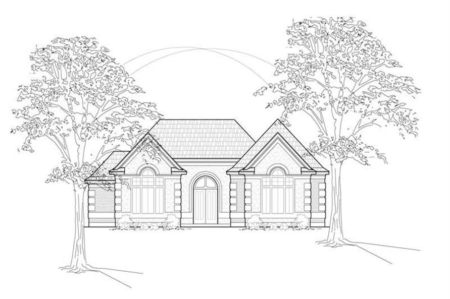 Main image for house plan # 8493