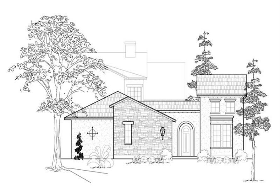 Home Plan Front Elevation of this 3-Bedroom,3287 Sq Ft Plan -134-1245