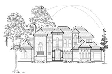 5-Bedroom, 5781 Sq Ft Luxury House Plan - 134-1249 - Front Exterior
