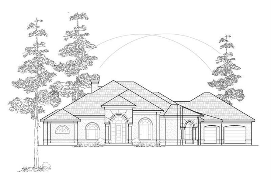 Home Plan Rendering of this 3-Bedroom,3395 Sq Ft Plan -134-1250