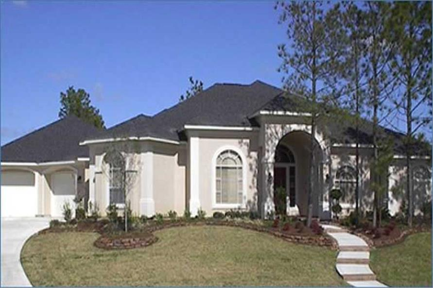 3-Bedroom, 3395 Sq Ft Luxury House Plan - 134-1250 - Front Exterior