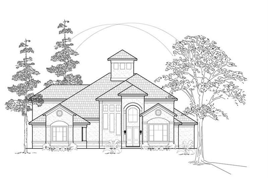 Main image for house plan # 8514