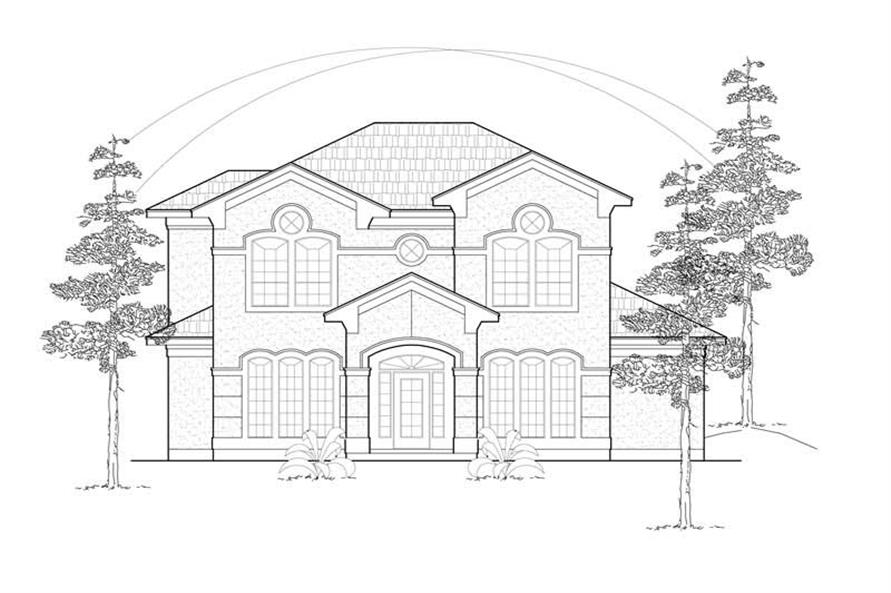 3-Bedroom, 2910 Sq Ft Mediterranean House Plan - 134-1260 - Front Exterior