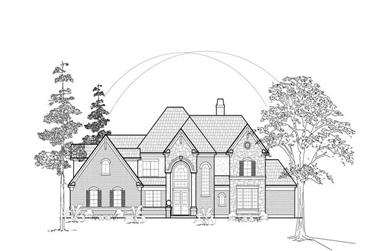 3-Bedroom, 3613 Sq Ft Luxury House Plan - 134-1261 - Front Exterior