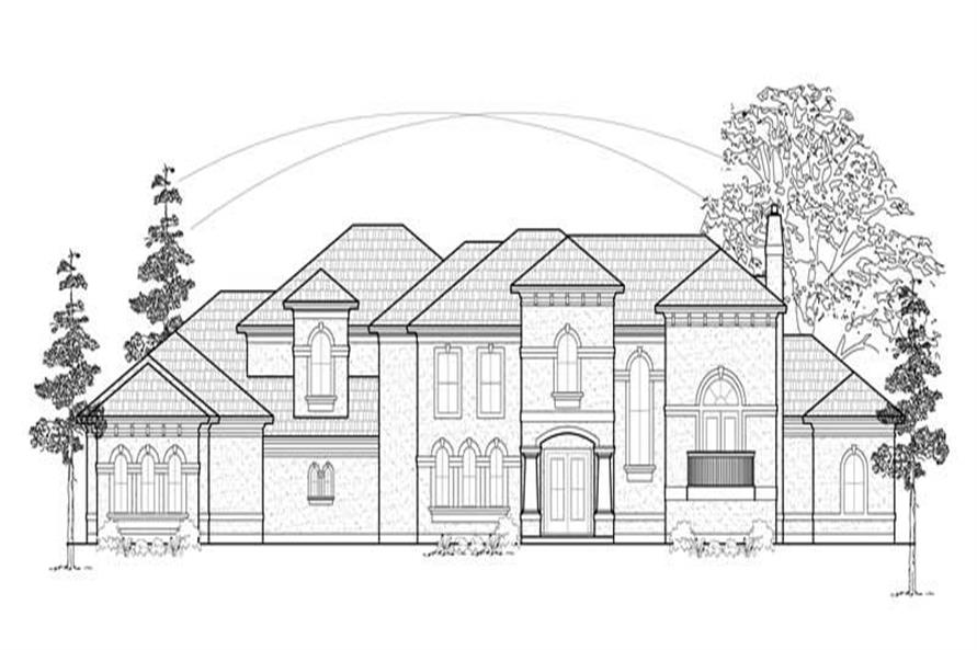 5-Bedroom, 5924 Sq Ft Luxury House Plan - 134-1262 - Front Exterior