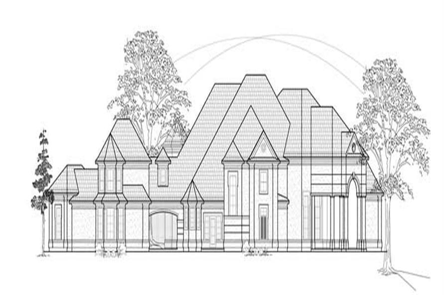 Home Plan Front Elevation of this 4-Bedroom,5976 Sq Ft Plan -134-1263