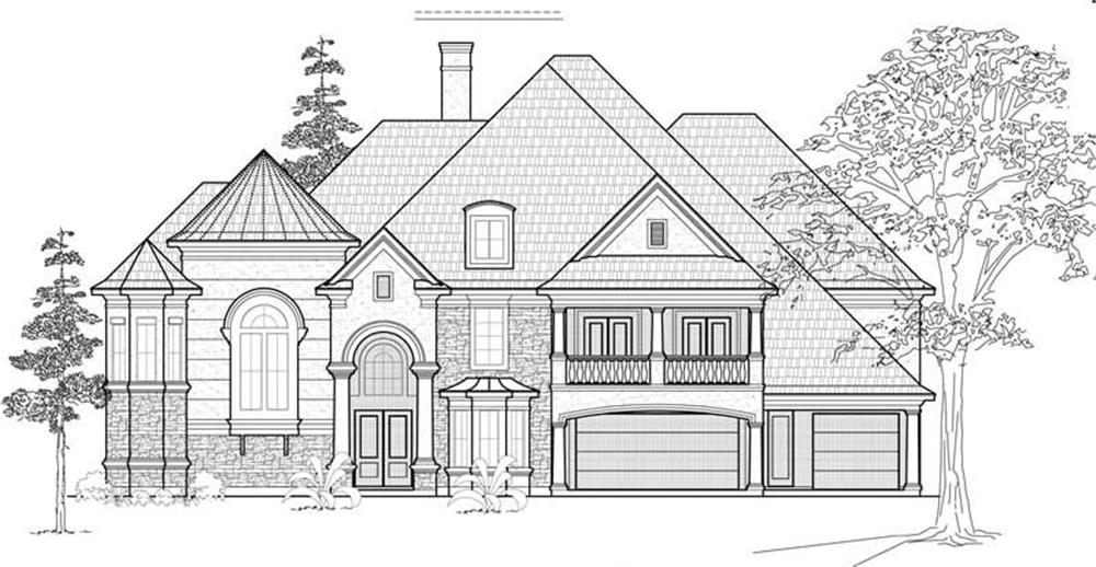 Luxury home (ThePlanCollection: Plan #134-1265)