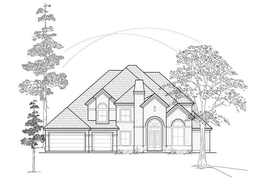 5-Bedroom, 4527 Sq Ft Luxury Home Plan - 134-1268 - Main Exterior