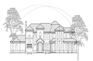 4-Bedroom, 5855 Sq Ft Luxury House Plan - 134-1277 - Front Exterior