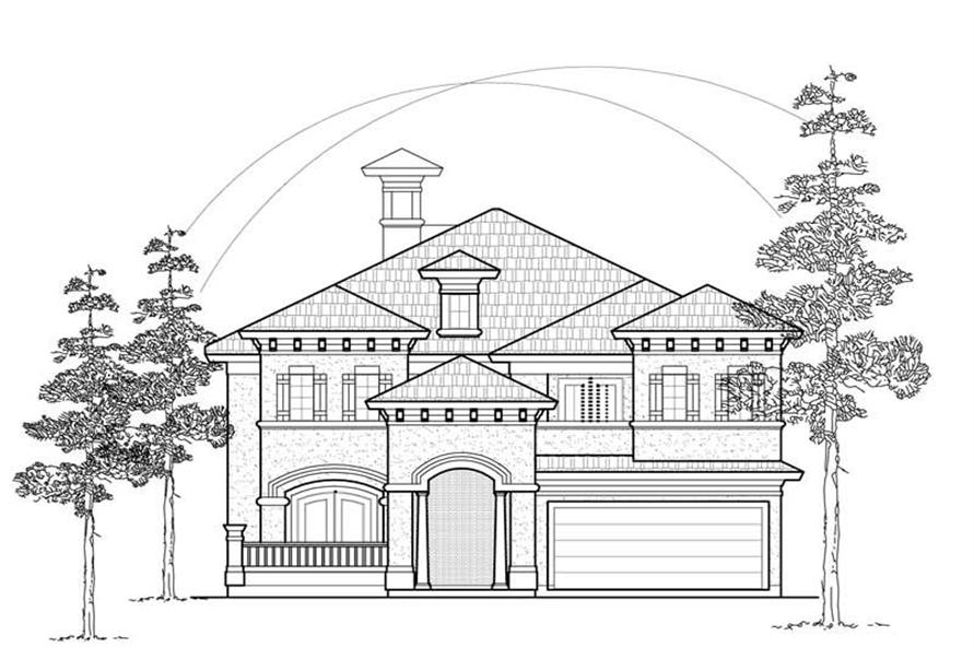 Main image for house plan # 8550