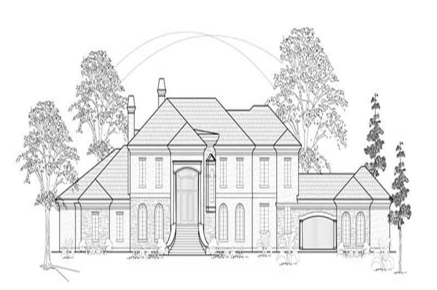 4-Bedroom, 7129 Sq Ft European House Plan - 134-1282 - Front Exterior