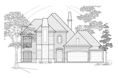3-Bedroom, 3446 Sq Ft Luxury House Plan - 134-1286 - Front Exterior