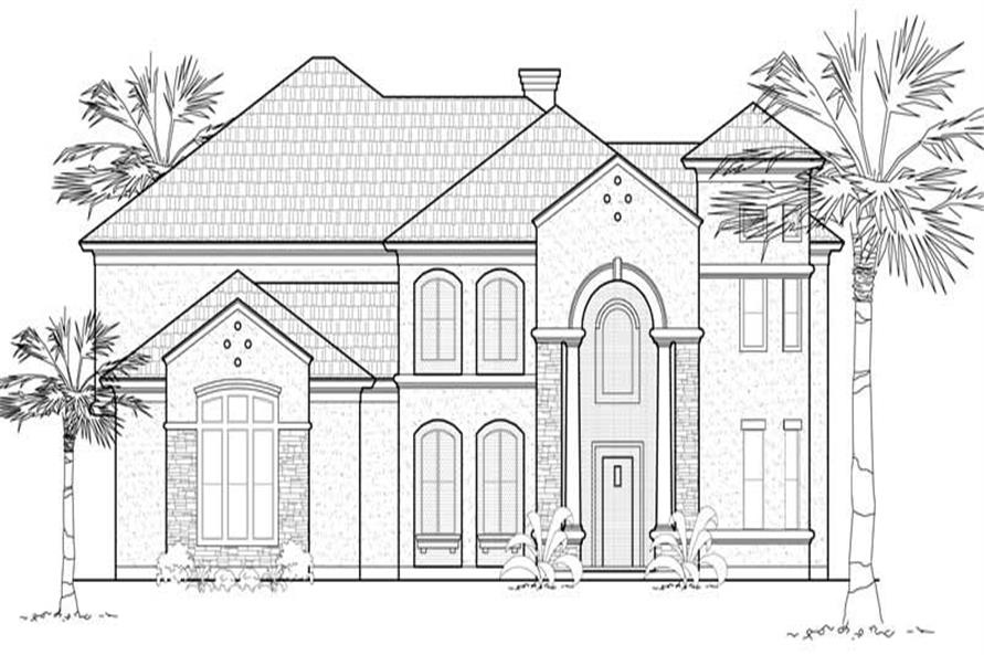 Main image for house plan # 8740