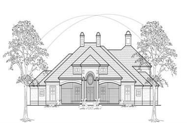 4-Bedroom, 5314 Sq Ft Luxury Home Plan - 134-1289 - Main Exterior