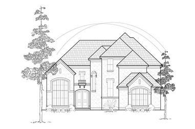 4-Bedroom, 3742 Sq Ft Luxury Home Plan - 134-1290 - Main Exterior