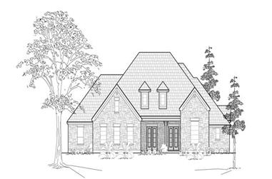 4-Bedroom, 3367 Sq Ft Country House Plan - 134-1293 - Front Exterior